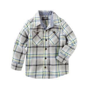 Oshkosh B'gosh Cotton Flannel Plaid Button Down 7